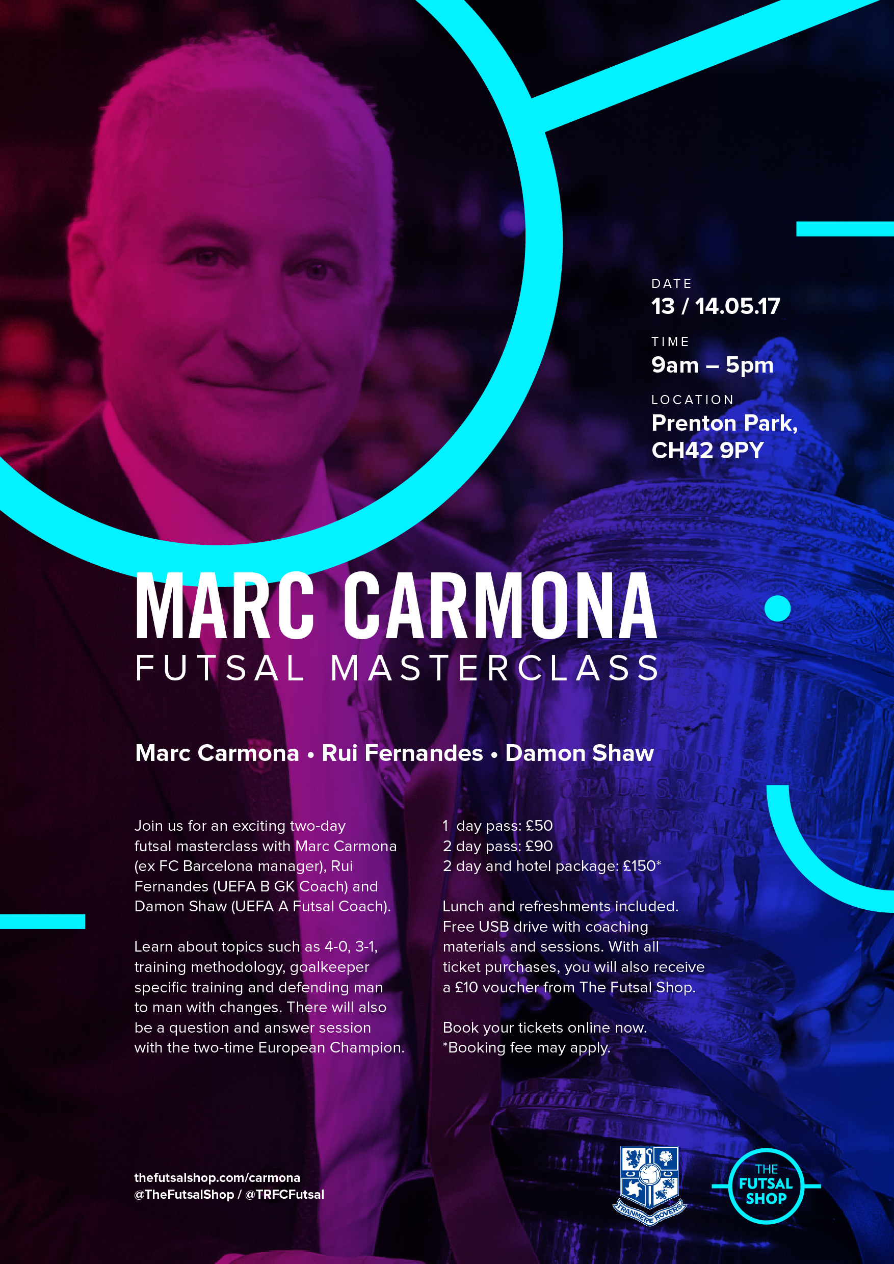 Tranmere Rovers and The Futsal Shop are delighted to present an exclusive Futsal coaching workshop with former FC Barcelona manager Marc Carmona on May 13/14.