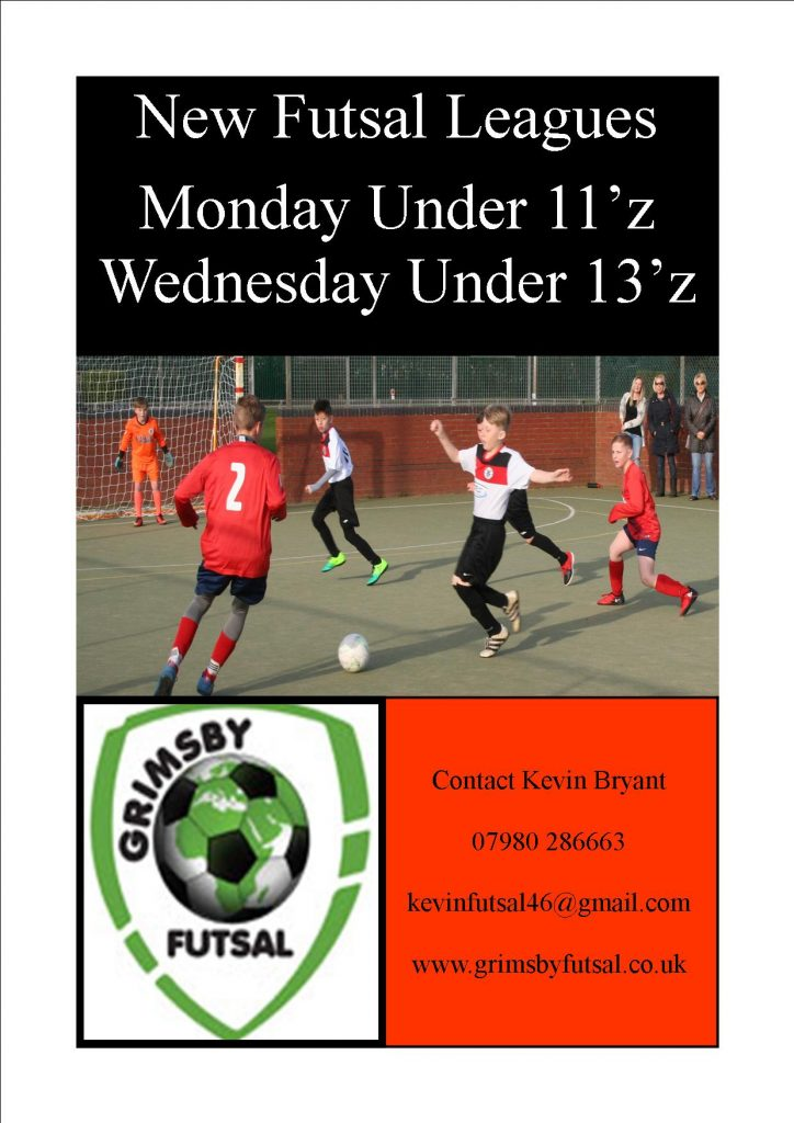 Two new futsal leagues started. Under 11z & 13z now's your chance to play this great game. Enter your team Now.
