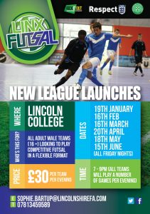Linx Futsal Senior League starts 19th January