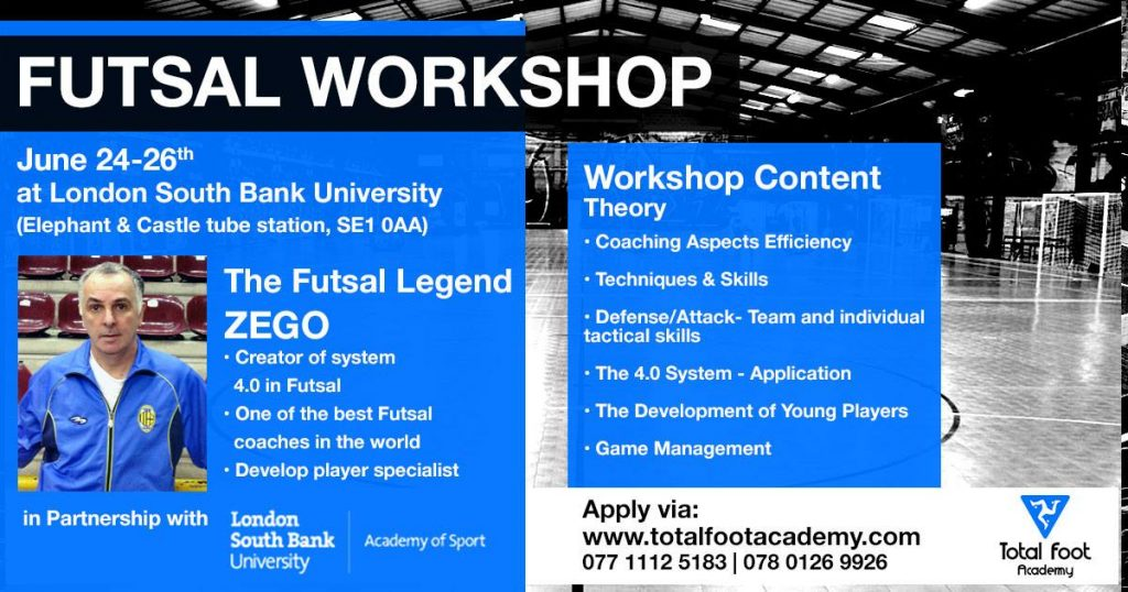 Two great futsal courses, don't miss out. Learn from the best don't keep trying to reinvent the wheel