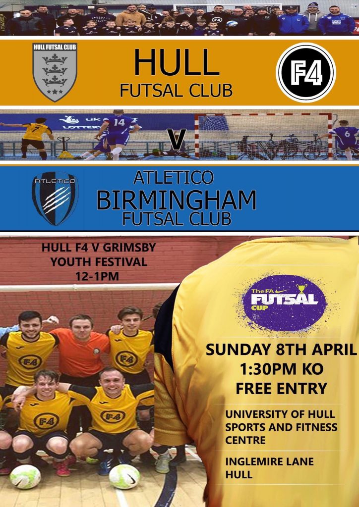 Grimsby school teacher Matty Payne and Cleethorpes Town Wembley star Lee Higginton ('Higgo') in Hull City Futsal squad to play FA Futsal Cup