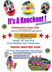 Have a break from Futsal - Humberston Lions Its a Knockout 14th July 2019