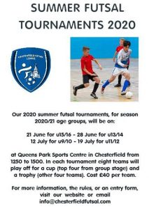 Summer Futsal Tournaments 2020 - Chesterfield