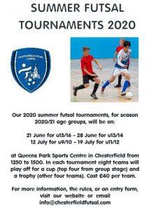 Summer Futsal Tournaments 2020 - Chesterfield