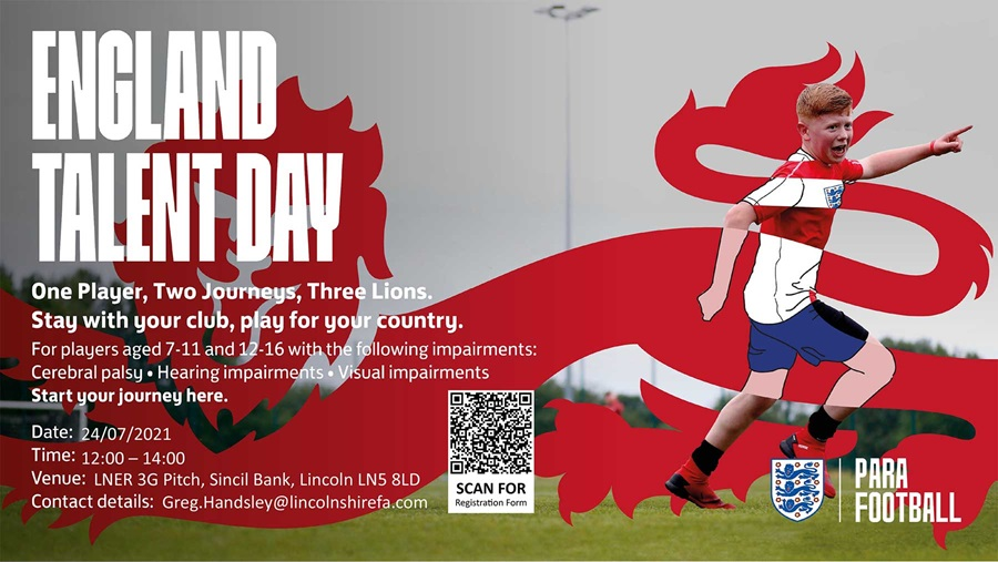 England Talent Day for Visual, Cerabal Palsy and Hairing Impairments 27th July Lincoln