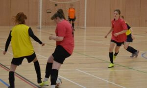 Grimsby Girls enjoy opportunity to play at the superb Hull University Indoor Arena