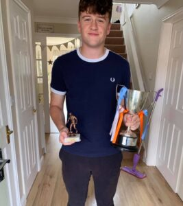 Grimsby Futsal League Referee Ben Clarke is recognised by Croft Junior League as their Young Referee of the Year