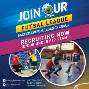 Grimsby Futsal League Resumes Week Commencing Monday September 6th - Please Be Ready to Play - New Teams Welcome